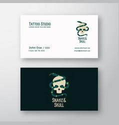 snake and skull abstract modern logo vector image