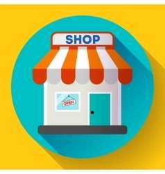 Store front icon flat design small shopping vector