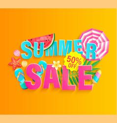 summer 2020 hot sale banner vector image