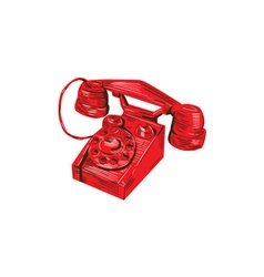 Telephone Vintage Drawing vector