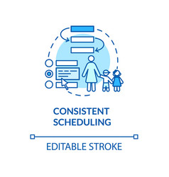 Toddlers consistent scheduling concept icon vector