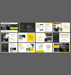 yellow element for slide infographic on vector image