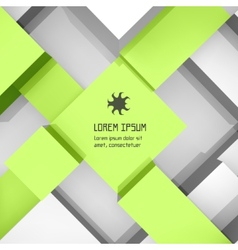 Abstract background of 3d blocks vector image