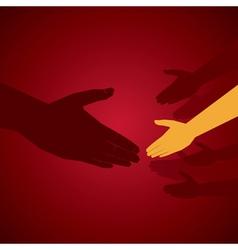 hand shake vector image vector image