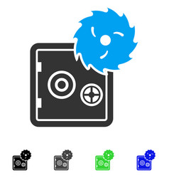 safe hacking theft flat icon vector image vector image