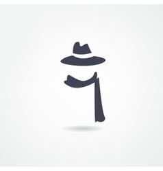 scarf icon vector image vector image