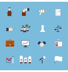 Elections icons set flat vector image