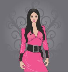 girl in pink vector image vector image