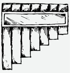 Pan flute symbol vector image vector image