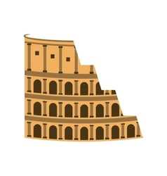 rome coliseum landmark icon vector image