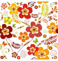 vivid seamless floral pattern vector image vector image