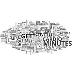 A cardio snob s workout text word cloud concept vector