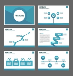 Blue polygon presentation templates Infographic vector image