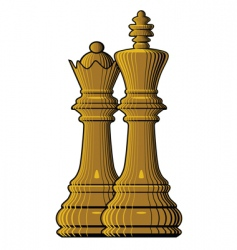 Chess king queen vector