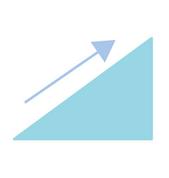 financial triangle with arrow up to business vector image