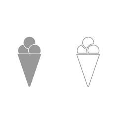 ice cream cone it is icon vector image
