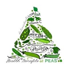 Peas Health Benefits 02 A vector image