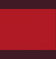 red knitted background without seamless kn vector image
