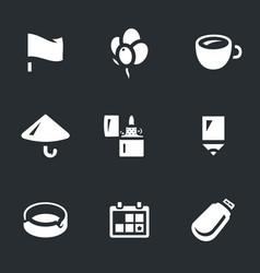 set of souvenir icons vector image