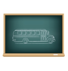 board school bus side view vector image vector image