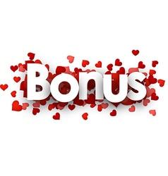 Bonus 3d sign vector image