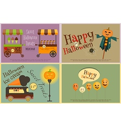 Halloween Sweet Treats vector image vector image