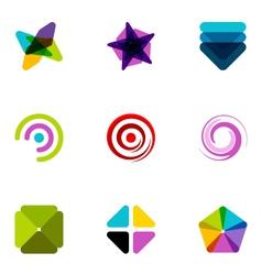 logo design elements set 09 vector image vector image