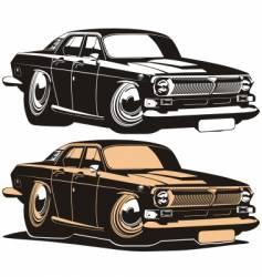 Volga vintage car vector image
