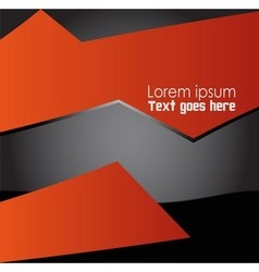 Abstract Orange black background vector image