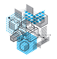 background with abstract isometric lines and vector image
