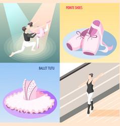 Ballet 2x2 design concept vector