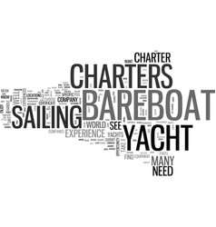 bareboat yacht charters save money with a vector image