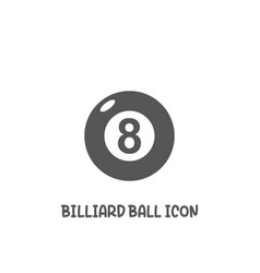 billiard ball icon simple flat style vector image