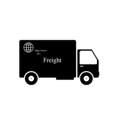 black and white car with the word shipping vector image