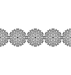 Black silhouette of snowflakes lace round vector