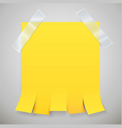 Blank yellow advertisement with tear off tabs and vector