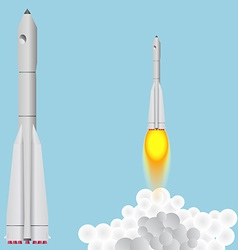 Booster Union Space rocket soars vector