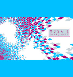 Bright and beautiful 3d mosaic tiles artistic vector