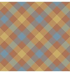 Brown beige diagonal checkered plaid seamless vector