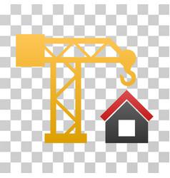 Building crane gradient icon vector