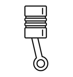 Car engine piston icon outline style vector