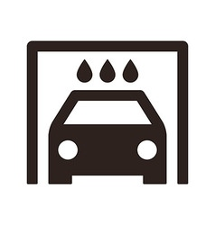 Car wash icon vector image