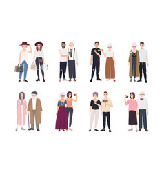 collection of grandparents and grandchildren vector image