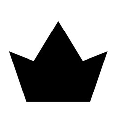 crown icon simple style vector image
