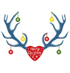 deer antlers vector image