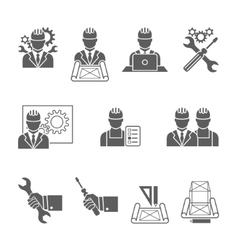 Engineer icons set vector image