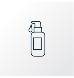 face foundation icon line symbol premium quality vector image