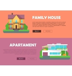 Family House Apartment Advertising Flyer Poster vector