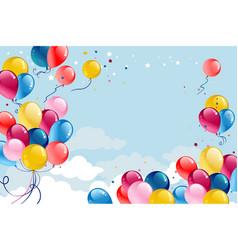 festive frame balloons vector image