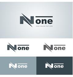 Flashy none logo vector